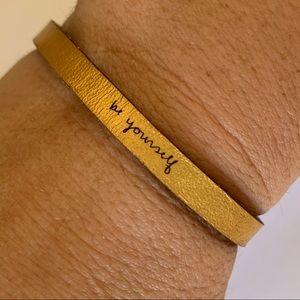"""Laurel Denise """"Be Yourself"""" Leather Bracelet"""